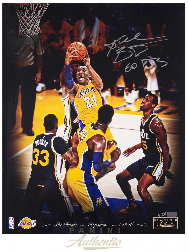 5051debf3a5 Kobe Bryant Signed Lakers 16x20 LE Photo Inscribed