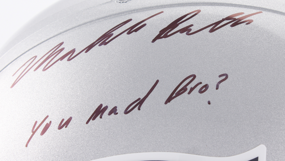37cd8c0faa1 Malcolm Butler Signed Patriots Full-Size Helmet Inscribed
