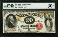 1880 $20 Twenty Dollars Legal Tender Large Bank Note Bill (PMG 30)