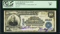 1902 $10 Ten Dollars U.S. National Currency Large Size Bank Note - The National Bank And Trust Compnay of Benton Harbor, MI (PCGS 20) at PristineAuction.com
