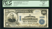 1902 $10 Ten Dollars U.S. National Currency Large Size Bank Note - The Coldwater National Bank of Coldwater Harbor, MI (PCGS 25)