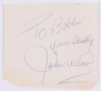 "Jackie Wilson Signed 3.5x3.75 Signature Cut Inscribed ""Your Buddy"" (JSA ALOA)"