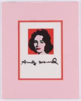 "Andy Warhol Signed ""Liz"" 8x10 Custom Matte Art Book Page Display (JSA ALOA)"