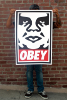 """Shepard Fairey - """"Obey Icon"""" Andre the Giant - Signed 24x36 Lithograph at PristineAuction.com"""