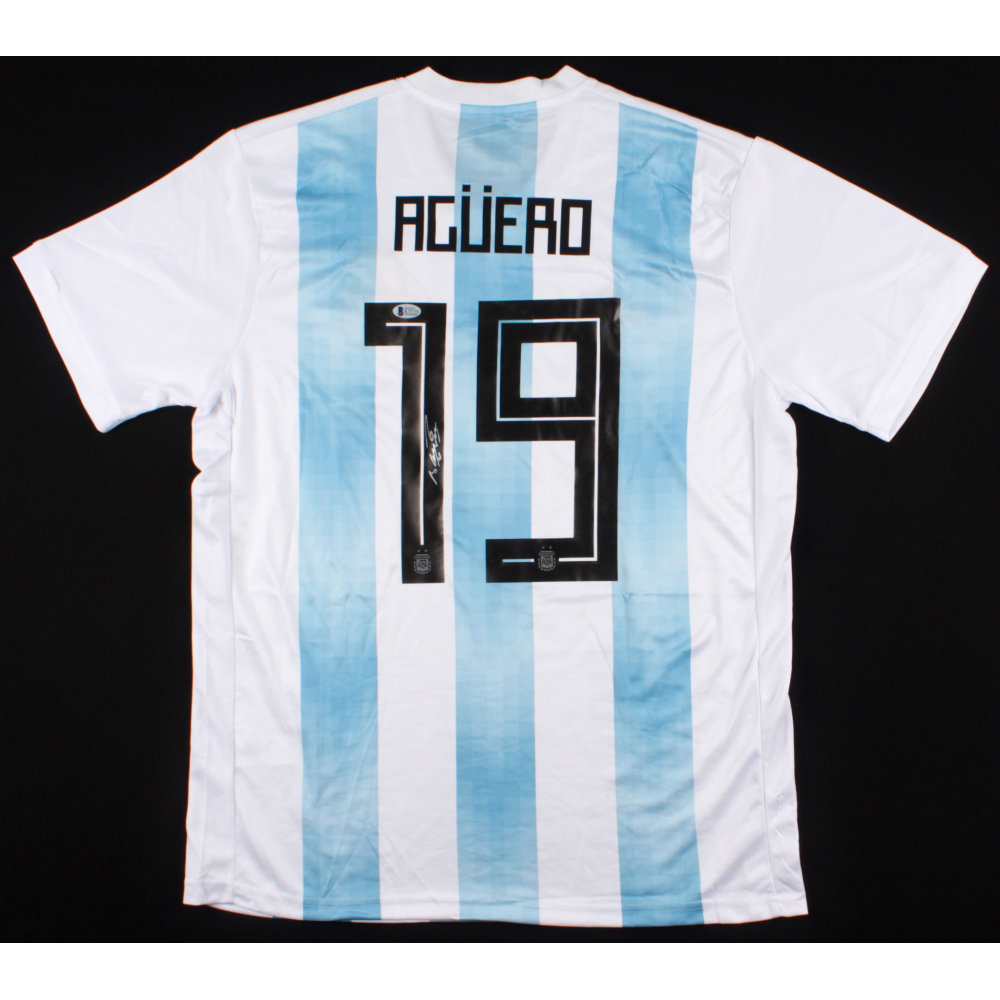 Sergio Aguero Signed Argentina Adidas Jersey (Beckett COA) ed1bfc0d6