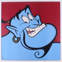 """Genie """"Aladdin"""" LE 1997 Walt Disney 23.5x23.5 Lithograph"""