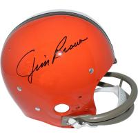 Jim Brown Signed Browns Full Size Throwback Helmet (Steiner COA & Fanatics)