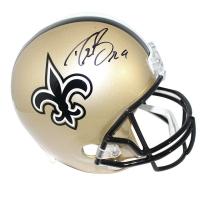 Drew BreesSigned SaintsFull-Size Helmet (Steiner COA)