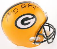 Aaron Rodgers & Brett Favre Signed Packers Full-Size Helmet (Fanatics Hologram & Radtke COA) at PristineAuction.com