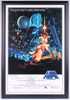 "Greg Hildebrandt & Tim Hildebrandt Signed ""Star Wars: A New Hope"" 15th Anniversary 30x45 Custom Framed Movie Poster (PA LOA) at PristineAuction.com"