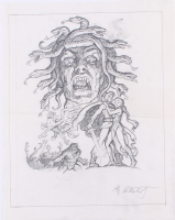 "Greg Hildebrandt Signed 1981 ""Clash of the Titans"" 13x16.5 Original Sketch (PA LOA) at PristineAuction.com"