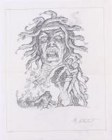 "Greg Hildebrandt Signed 1981 ""Clash of the Titans"" 13x16.5 Original Sketch (PA LOA) at PristineAuction.com"