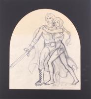 "Greg Hildebrandt Signed 1981 ""Clash of the Titans"" 21x22.5 Custom Matted Original Sketch (PA LOA) at PristineAuction.com"