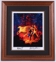 "Greg Hildebrandt & Ray Harryhausen Signed ""Clash of the Titans"" 22x24 Custom Framed Limited Edition Lithograph (PA LOA) at PristineAuction.com"