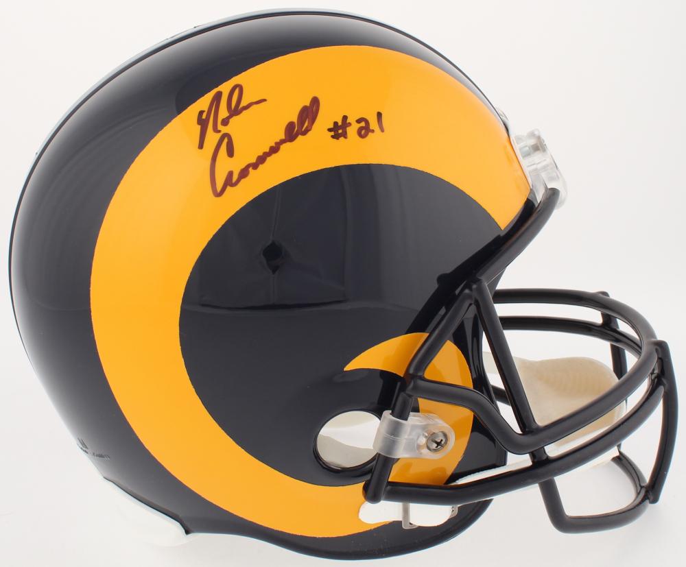 Nolan Cromwell Signed Rams Full-Size Throwback Helmet (Radtke COA) c0715c762