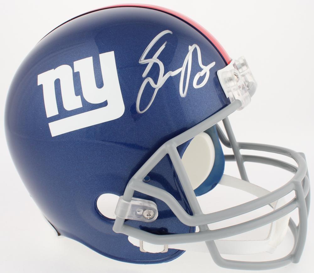 Saquon Barkley Signed Giants Full-Size Helmet (Panini COA) at  PristineAuction.com ed7a9b5a3