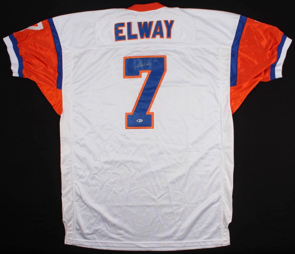 9dc840cf662 John Elway Signed Broncos Throwback Jersey (Beckett COA)