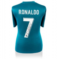 Cristiano Ronaldo Signed Real Madrid Shirt (Icon Sports COA)
