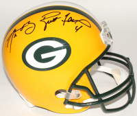 Aaron Rodgers & Brett Favre Signed Packers Full-Size Helmet (Fanatics Hologram & Favre Hologram)