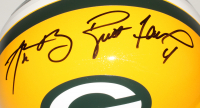 Aaron Rodgers & Brett Favre Signed Packers Full-Size Helmet (Fanatics Hologram & Favre Hologram) at PristineAuction.com