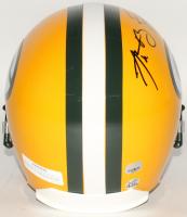 Aaron Rodgers & Brett Favre Signed Packers Full-Size Helmet (Fanatics Hologram & Favre Hologram) at PristineAuction.com