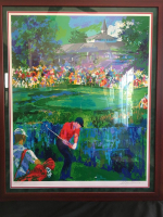 "LeRoy Neiman Signed Tiger Woods ""Valhalla"" 28x35 Custom Framed Artists Proof Serigraph (Knoedler Publishing COA) at PristineAuction.com"