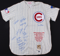 """1969 Chicago Cubs LE Jersey Signed By (19) With Ernie Banks, Ron Santo, Ferguson Jenkins Inscribed """"HOF 91"""" (JSA LOA & Schwartz Sports COA) at PristineAuction.com"""