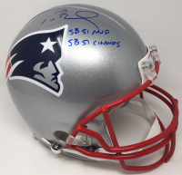 "Tom Brady Signed New England Patriots Full-Size Authentic On-Field LE Helmet Inscribed ""SB 51 MVP"" & ""SB 51 Champs"" (TriStar Hologram) at PristineAuction.com"