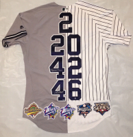 """Derek Jeter, Mariano Rivera, Andy Pettitte & Jorge Posada Signed Limited Edition Yankees """"Core Four"""" Majestic Authentic Jersey (Steiner Hologram)"""