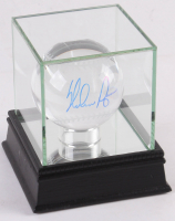Nolan Ryan Signed Lead Crystal Baseball with High Quality Display Case (PSA COA) at PristineAuction.com