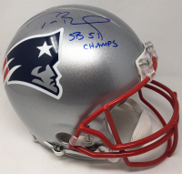 "Tom Brady Signed Patriots Full-Size Authentic On-Field Limited Edition Helmet Inscribed ""SB 51 Champs"" (TriStar Hologram & Steiner Hologram)"