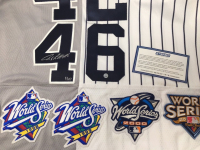"""Derek Jeter, Mariano Rivera, Andy Pettitte & Jorge Posada Signed Limited Edition Yankees """"Core Four"""" Majestic Authentic Jersey (Steiner Hologram) at PristineAuction.com"""
