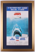 "Vintage Universal Studios ""Jaws"" 17x25 Custom Framed Movie Poster Photo Display"