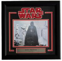"Dave Prowse Signed ""Star Wars"" 16x17 Custom Framed Photo Display Inscribed ""Darth Vader"" (Steiner COA)"