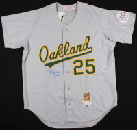 "Mark McGwire Signed 1987 All-Star Athletics Majestic Jersey Inscribed ""ROY 87"" (Steiner COA & MLB Hologram) at PristineAuction.com"