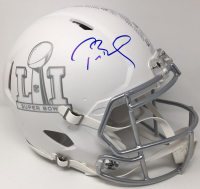 Tom Brady Signed Super Bowl 51 Limited Edition Custom Matte White ICE Authentic On-Field Speed Helmet (Tristar Hologram & Steiner COA) at PristineAuction.com