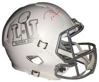 Tom Brady Signed Super Bowl 51 Limited Edition Custom Matte White ICE Authentic On-Field Speed Helmet (Tristar Hologram & Steiner COA)