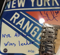 "Henrik Lundqvist Signed Rangers Limited Edition Electric Guitar Inscribed ""NYR All-Time Wins Leader"""" (Steiner COA) at PristineAuction.com"