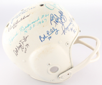 Vintage Full-Size Authentic On-Field Helmet Signed by (15) Football Hall of Famers Including Ray Nitschke, Paul Hornung, Dick Butkus, YA Tittle With Multiple Inscriptions (JSA ALOA) at PristineAuction.com