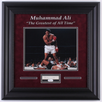 """Muhammad Ali Signed """"The Greatest of All Time"""" 18x18 Custom Framed Cut Display with Photo (JSA LOA)"""