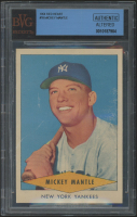 1954 Red Heart #18 Mickey Mantle (BVG Authentic) (Trimmed)