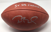 """Tom Brady Signed Super Bowl 51 Limited Edition """"The Duke"""" NFL Official Game Ball Inscribed """"5x SB Champs"""" (Steiner COA & TriStar Hologram) at PristineAuction.com"""