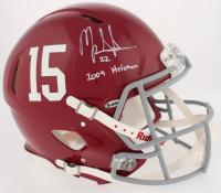 "Mark Ingram Signed Alabama Crimson Tide Full-Size Authentic On-Field Speed Helmet Inscribed ""2009 Heisman"" (Radtke COA)"