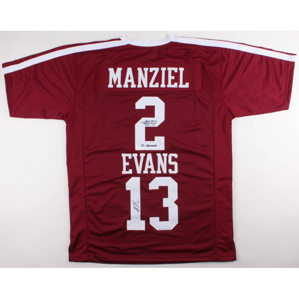 3b0d982a3 Johnny Manzie & Mike Evans Signed Texas A&M Aggies Jersey Inscribed