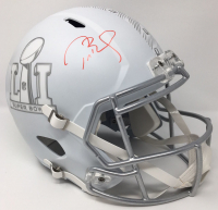 Tom Brady Signed Super Bowl 51 Limited Edition Custom Matte White ICE Full-Size Speed Helmet (Steiner COA & TriStar Hologram) at PristineAuction.com