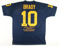 Tom Brady Signed Michigan Wolverines Limited Edition Career Highlight Stat Jersey (Steiner COA & Tristar Hologram)