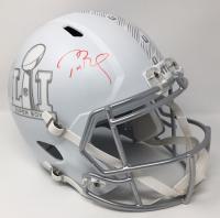 Tom Brady Signed Super Bowl 51 LE Matte White ICE Full-Size Speed Helmet (Steiner COA & TriStar Hologram) at PristineAuction.com