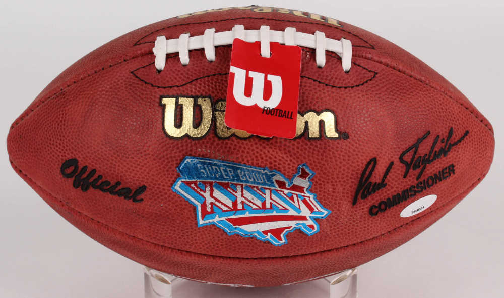 Tom Brady Signed Super Bowl XXXVI NFL Official Game Ball (TriStar Hologram)  at PristineAuction ee40f07c8
