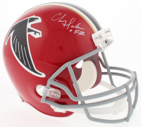 "Chris Doleman Signed Falcons Full-Size Throwback Helmet Inscribed ""HOF 12"" (Radtke COA)"