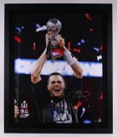 Tom Brady Signed Patriots Super Bowl LI 40x48 Custom Framed Limited Edition Photo (Steiner COA & TriStar Hologram) at PristineAuction.com